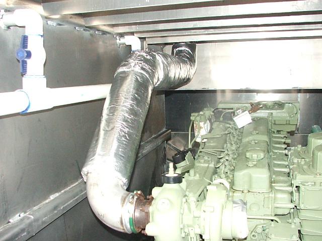 Volvo-Penta-TAMD-71-dry-exhaust-system